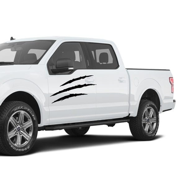 Side Scratches Decals Graphics Vinyl for Dodge Ram Crew Cab 1500 2002 – Present