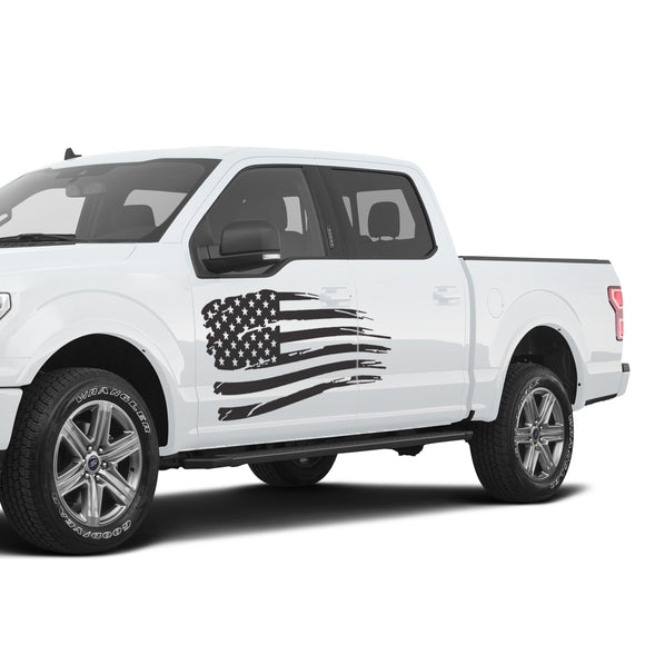 USA Flag Decal Sticker FORD RAPTOR F150 2007-2017