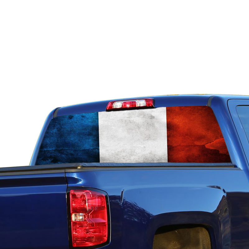 France Flag Perforated for Chevrolet Silverado decal 2015 - Present