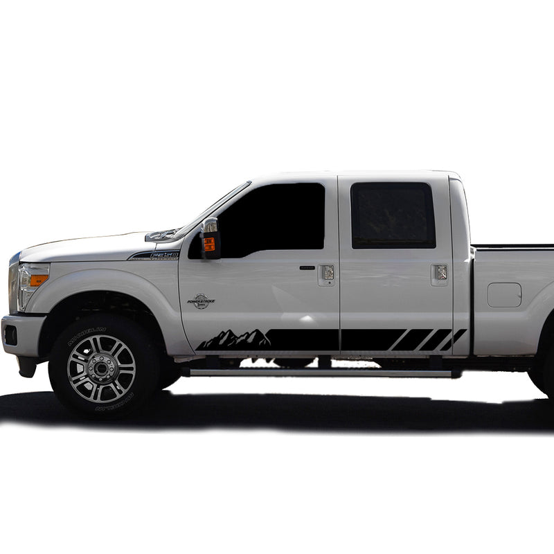 Decal Mountain Graphic Vinyl Kit Compatible with Ford F350 2013-Present