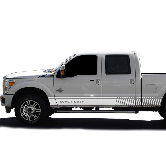 Decal Logo Stripes Graphic Vinyl Kit Compatible with Ford F350 2013-Present