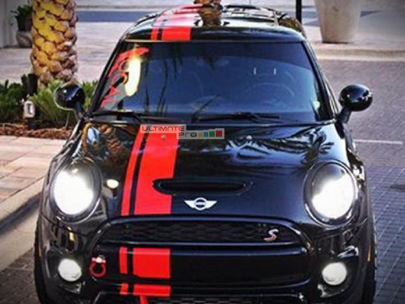 Front to Back Stripe Kit Decal Sticker Graphic Mini Cooper S JCW D S3 SD