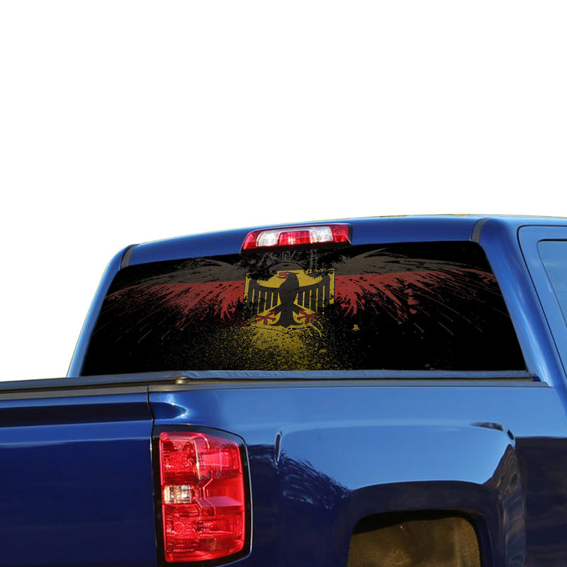 Germany Flag Perforated for Chevrolet Silverado decal 2015 - Present