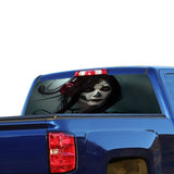Girl Perforated for Chevrolet Silverado decal 2015 - Present