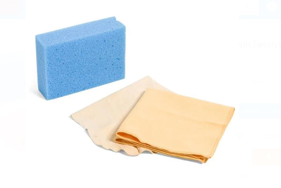 Cleaning Set Leather Sponge Cloth - 3 pcs.
