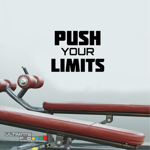 Decals gym wall ideas Sticker Motivation Push your Limits