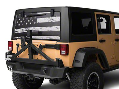 Flag USA Perforated for Jeep Wrangler JL, JK decal 2007 - Present