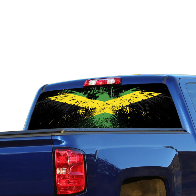 Jamaica Eagle Perforated for Chevrolet Silverado decal 2015 - Present