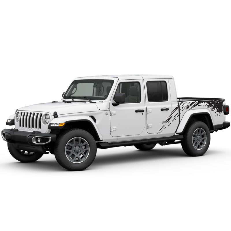 Decal bed mud spalsh Compatible with Jeep Gladiator 2019-Present