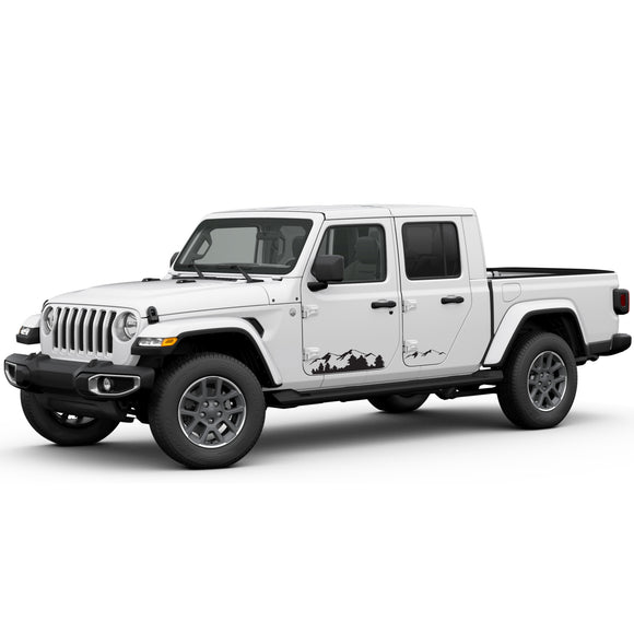 Decal mountain Compatible with Jeep Gladiator 2019-Present
