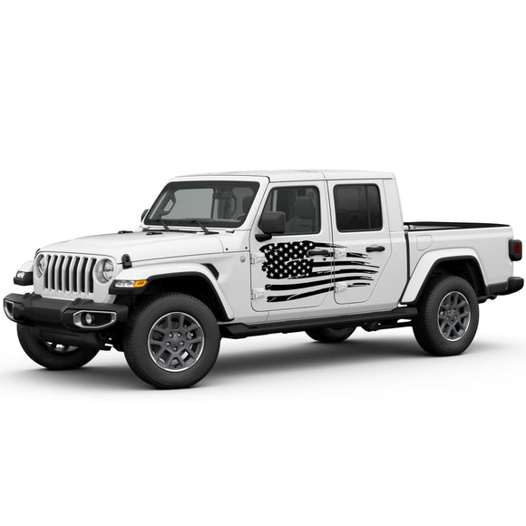 Decal USA Flag Compatible with Jeep Gladiator 2019-Present