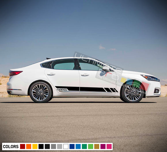 Side Doors Sport Stripe Decal Kit for Kia Cadenza 2015 - Present