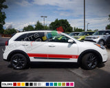 Side Doors Sport Stripe Decal Kit for Kia Niro 2016 - Present
