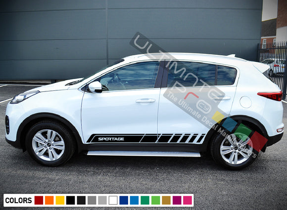 Vinyl Side Racing Stripe Kit for Kia Sportage 2016 - Present