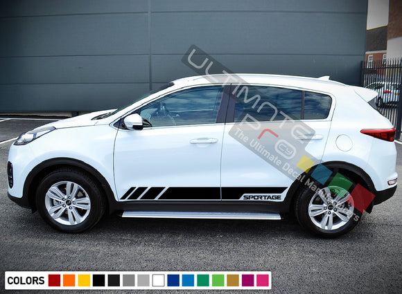 Side Doors Sport Stripe Decal Kit for Kia Sportage 2016 - Present