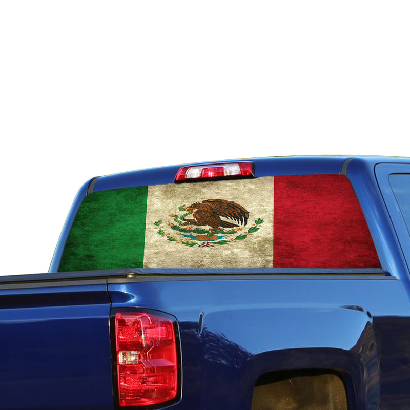 Mexico Flag Perforated for Chevrolet Silverado decal 2015 - Present