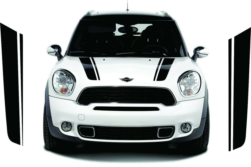 Bonnet Stripes Decal Sticker Graphic Compatible with Mini Countryman 2010-Present