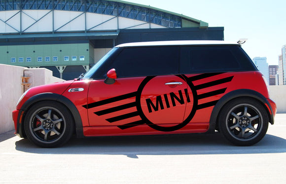 Decal Mini Logo Sticker Compatible with Mini Cooper 2000-2016 R56 R50 R53 F55 F56