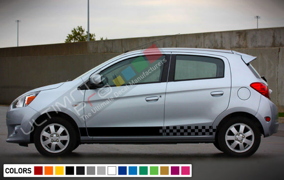 Decal Sticker Vinyl Side Racing Stripes For Mitsubishi Mirage 2005-Present