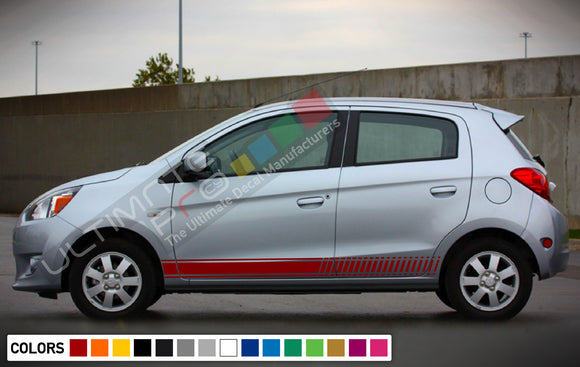 Decal Vinyl Side Racing Stripes For Mitsubishi Mirage 2005-Present