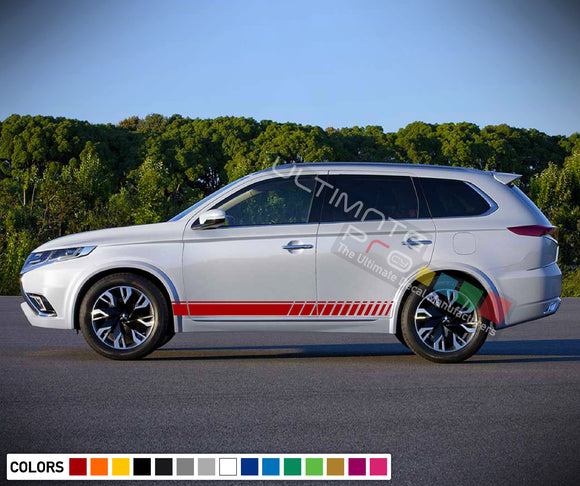 Decal Vinyl Side Racing Stripes For Mitsubishi Outlander 2005-Present