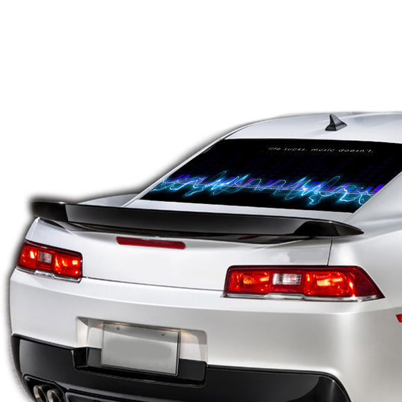 Music Wave Perforated for Chevrolet Camaro Vinyl 2015 - Present