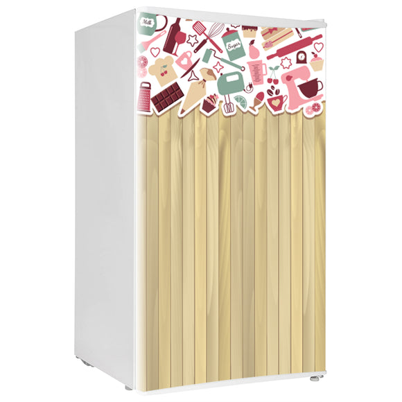 Mini Fridge Decals vinyl Wood 8 Design Fridge Decals, Wrap