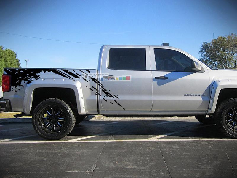 Off-Road Bed Splash Mud Decal Graphic Vinyl Chevrolet Silverado 2014-2017