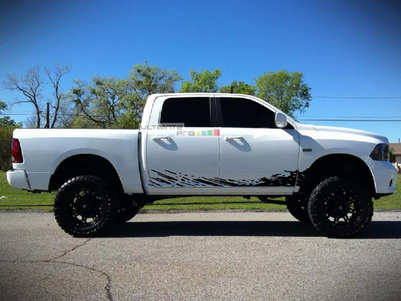 Off-Road Mud Splash Decal Graphic Vinyl Dodge Ram 2009-2017