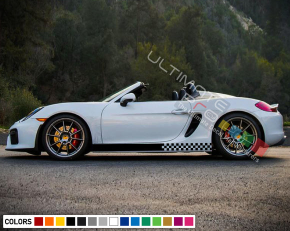 Decals Vinyl Side Sport Stripe Body Kit Compatible with Porsche Boxter 2012-Present