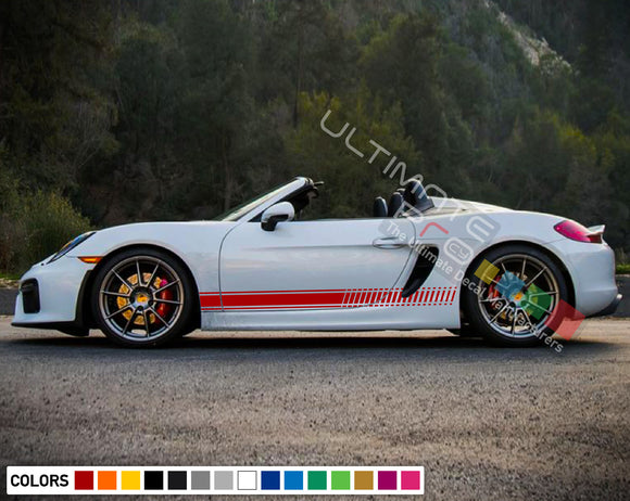 Decal Vinyl Side Sport Stripe Body Kit Compatible with Porsche Boxter 2012-Present