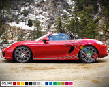 Decal Side Sport Stripe Body Kit Compatible with Porsche Boxter 2012-Present