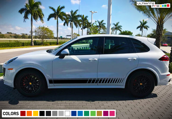 Decal Sticker Vinyl Side Sport Stripe Body Kit Compatible with Porsche Cayenne 2012-Present