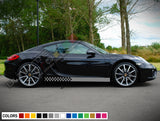 Decal Sticker Vinyl Side Sport Stripe Body Kit Compatible with Porsche Cayman 2012-Present