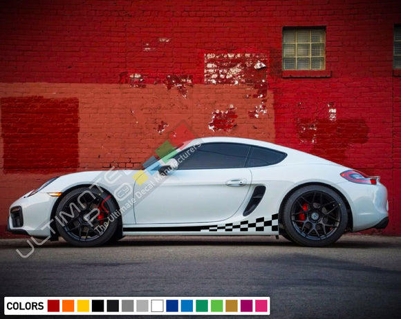 Decals Vinyl Side Sport Stripe Body Kit Compatible with Porsche Cayman 2012-Present