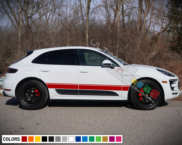 Decals Vinyl Side Sport Stripe Body Kit Compatible with Porsche Macan 2012-Present