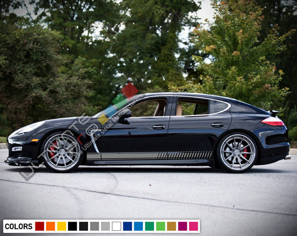 Decal Sticker Vinyl Side Sport Stripe Body Kit Compatible with Porsche Panamera 2012-Present