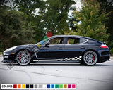 Decals Vinyl Side Sport Stripe Body Kit Compatible with Porsche Panamera 2012-Present