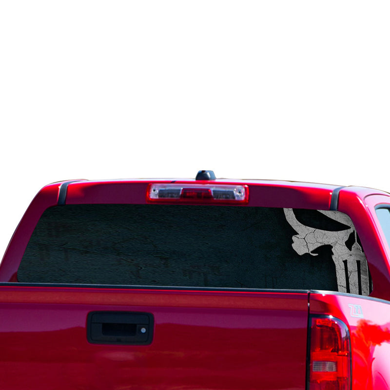Half Punisher Perforated for Chevrolet Colorado decal 2015 - Present