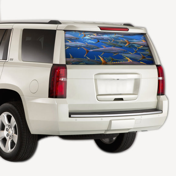 Perforate Blue Sea, vinyl design for Chevrolet Tahoe decal 2008 - Present