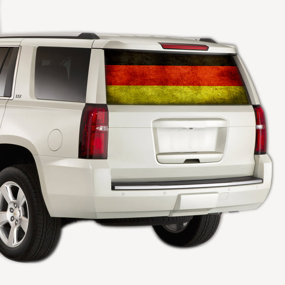 Perforate Germany Flag, vinyl design for Chevrolet Tahoe decal 2008 - Present