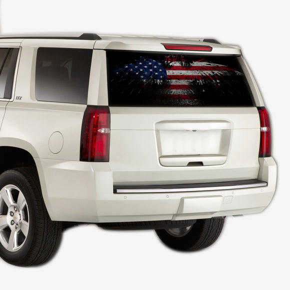 Perforate US Eagle , vinyl design for Chevrolet Tahoe decal 2008 - Present
