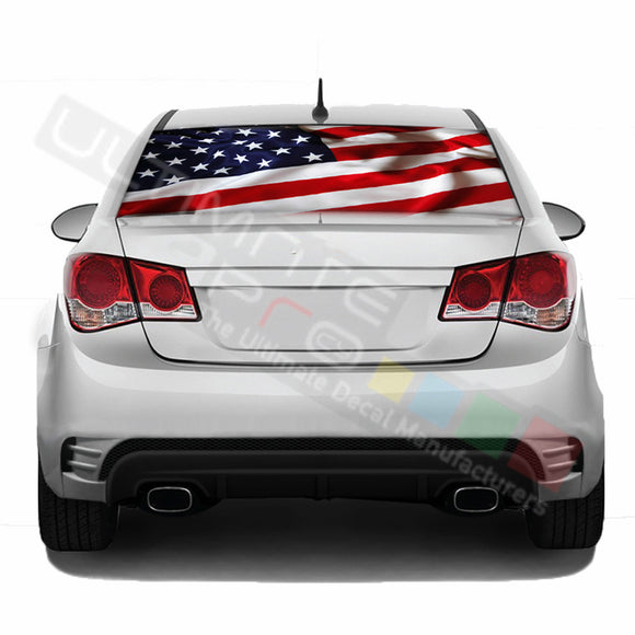 Perforated decal Chevrolet Cruz graphics vinyl 2009 - Present