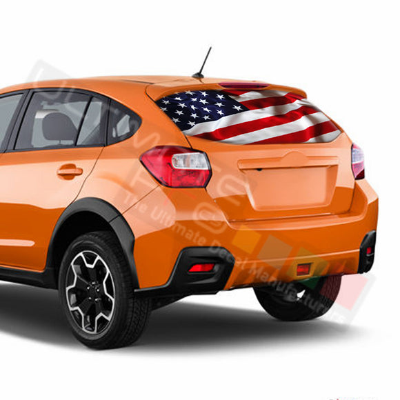 USA Flag Perforated Decals Subaru Crosstreck graphics 2015 - Present