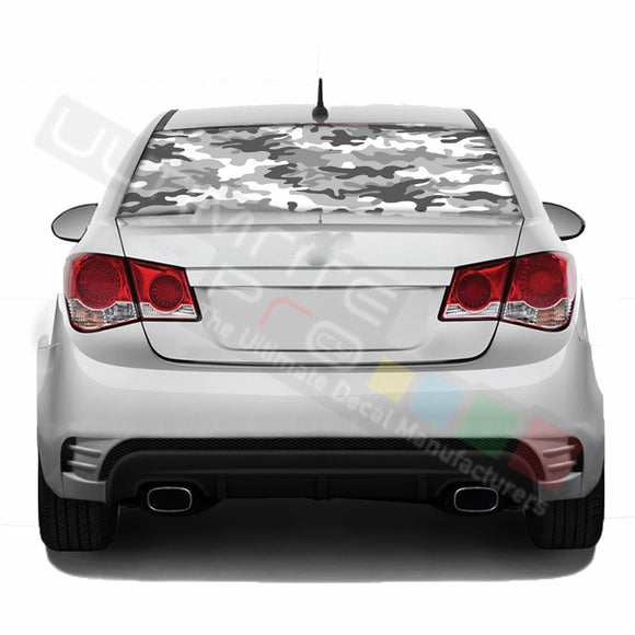 Camo Perforated decal Chevrolet Cruz graphics vinyl 2009 - Present