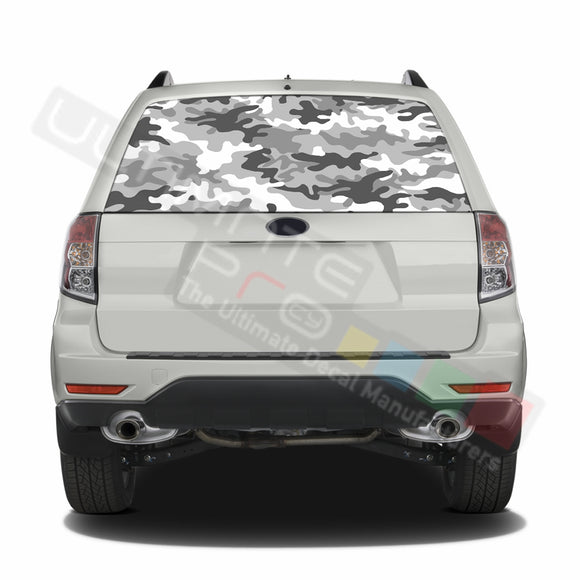 Camo graphics Perforated Decals Subaru Forester 2012 - Present