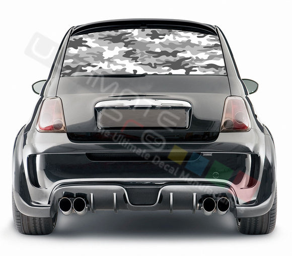 Camo graphics Perforated Decals Fiat 500 Abarth 2007 - Present