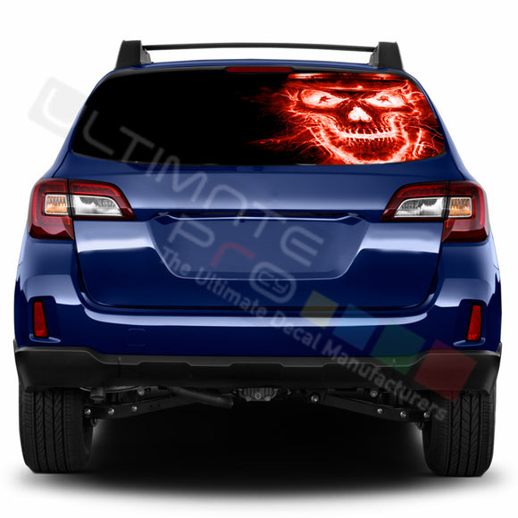 Skull Perforated Decals stickers compatible with Subaru Outback