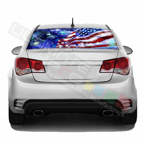 4th july Perforated decal Chevrolet Cruz graphics vinyl 2009-Present