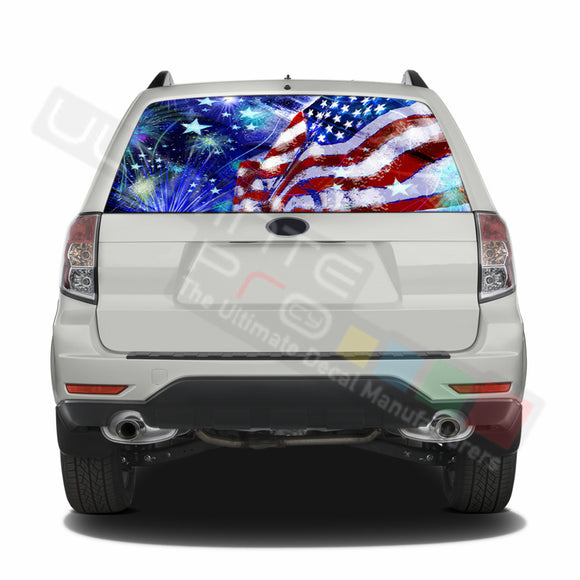 4th July graphics Perforated Decals Subaru Forester 2012 - Present